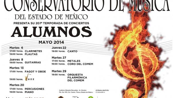 Cartelera Conservatorio de Música del Estado de México en mayo 2014