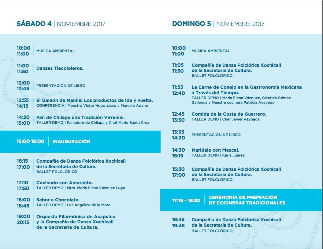 Programa Encuentro Mezcal Guerrero